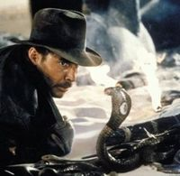 Indiana Jones with snake | Tacky Harper's Cryptic Clues