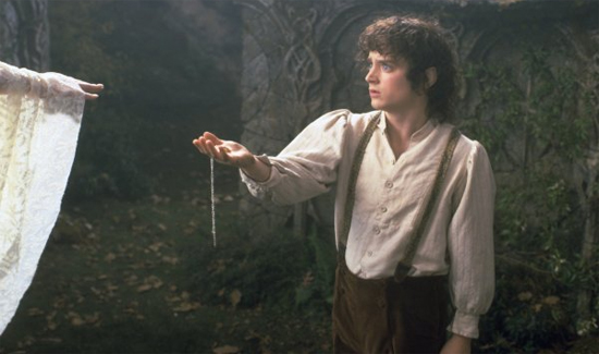 Frodo offers Galadriel the One Ring