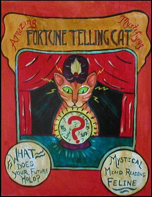 Amazing fortune telling cat
