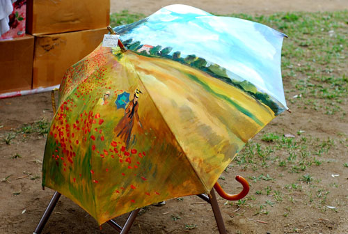 Monet umbrella | Tacky Harper's Cryptic Clues