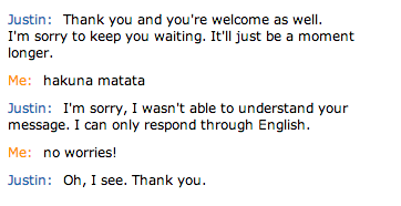 Turing test with Amazon customer service