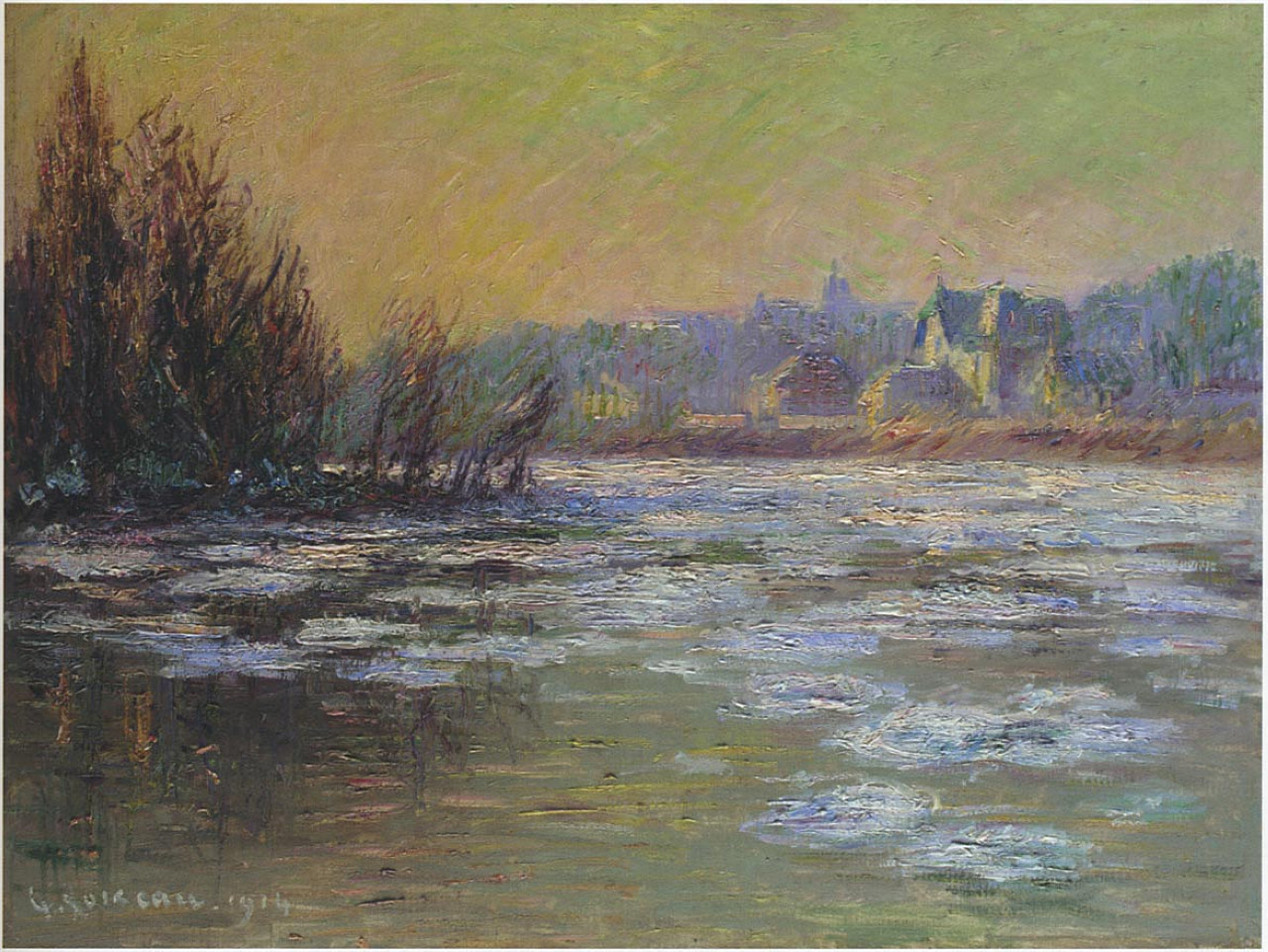 Ice on the Oise River - Gustave Loiseau
