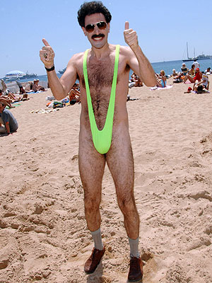 Borat and his banana hammock | Tacky Harper's Cryptic Clues
