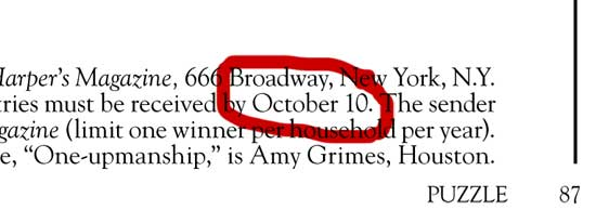 Wrong date in footer | November 2014 | Tacky Harper's Cryptic Clues