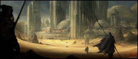 Arrakis concept art by Mark Molnar | Tacky Harper's Cryptic Clue