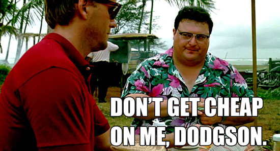 We've got Dodgson out here! | Wayne Knight as Dennis Nedry from Jurassic Park | Tacky Harper's Cryptic Clues