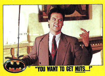 You wanna get nuts? | Michael Keaton in Batman | Tacky Harper's Cryptic Clues