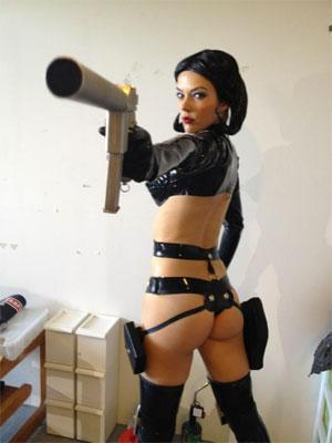 Aeon Flux cosplay | Tacky Harper's Cryptic Clues
