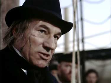 Patrick Stewart as Capt Ahab | Tacky Harper's Cryptic Clues