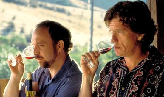 drinking red wine | Paul Giamatti | Thomas Haden Church | Sideways | Tacky Harper's Cryptic Clues