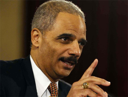 former Attorney General Eric Holder | Tacky Harper's Cryptic Clues