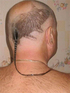 Rattail hairstyle | Tacky Harper's Cryptic Clues
