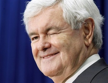 Newt Gingrich wink | Tacky Harper's Cryptic Clues