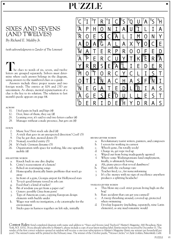 Tacky Harpers Cryptic Clues 2015