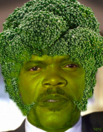 Samuel L Jackson | broccoli | Tacky Harper's Cryptic Clues