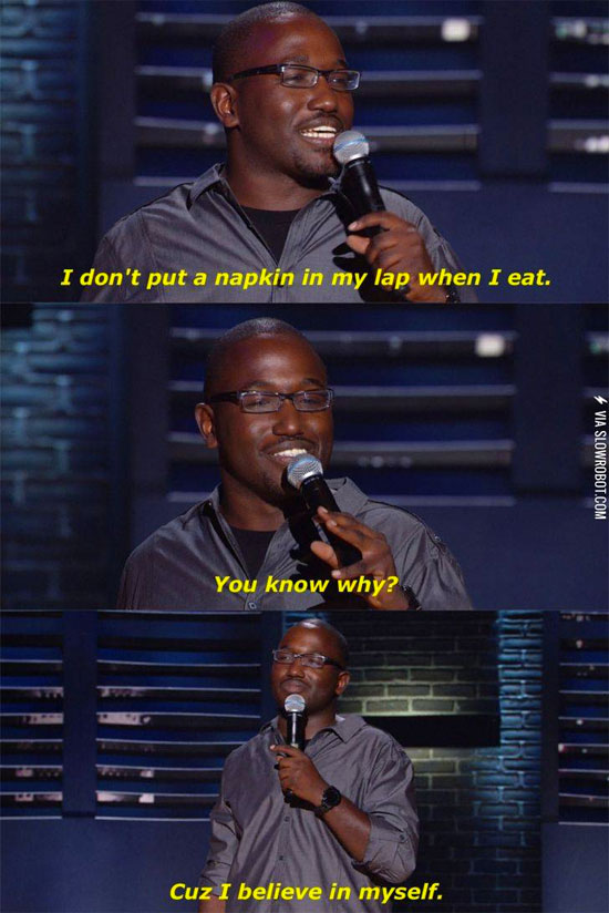 Hannibal Buress on napkins | Tacky Harper's Cryptic Clues