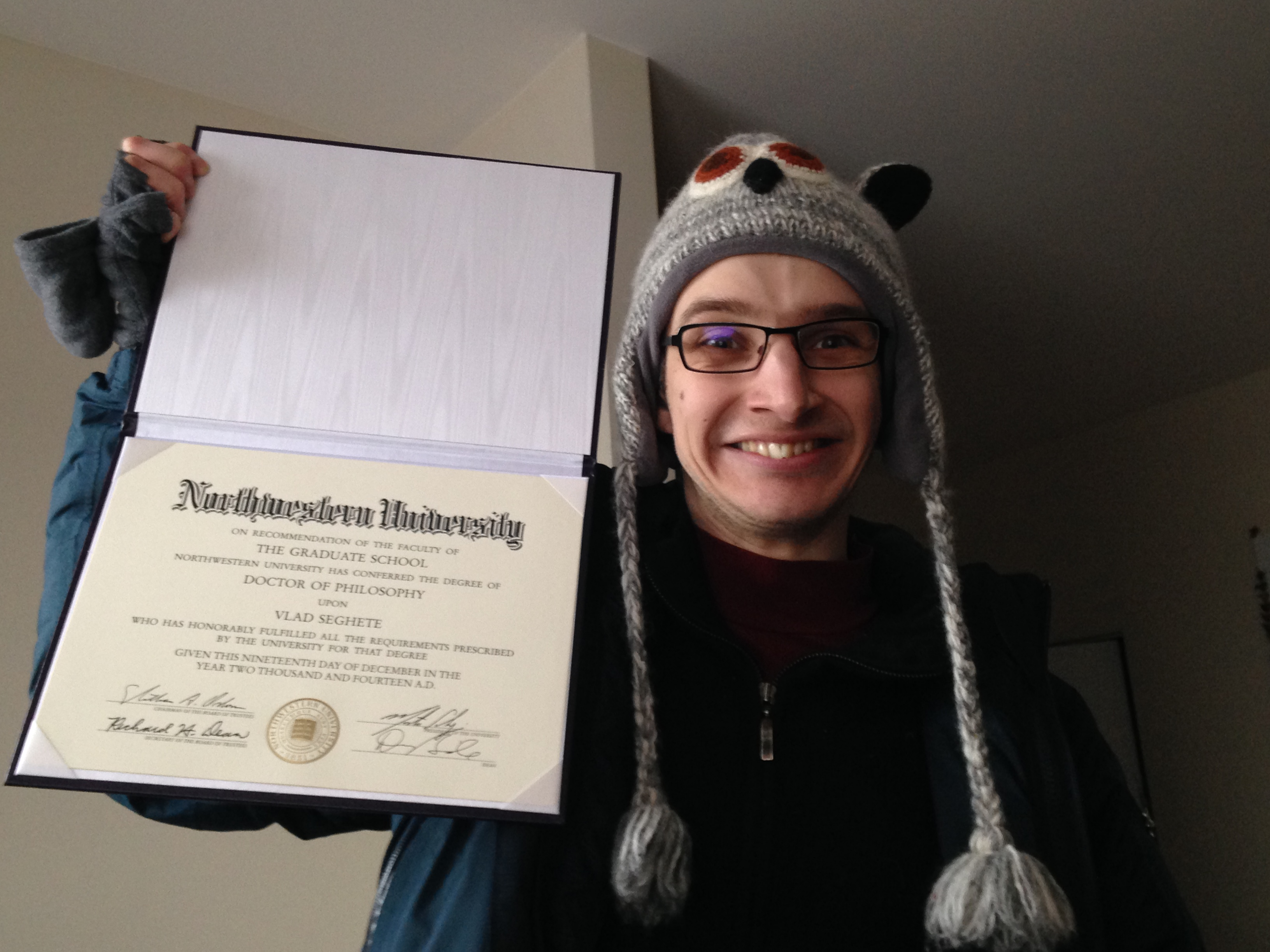Vlad with degree!!!