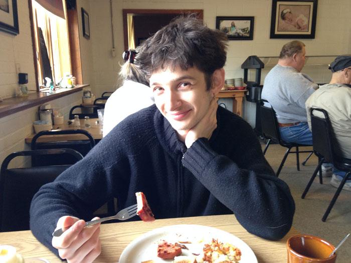 Vlad at diner